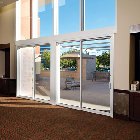 Commercial sliding door repair and replacement at Talbott Glass in Elkins, WV