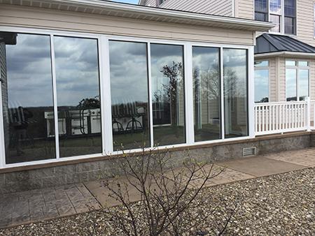 Window installation at Talbott Glass in Elkins, WV