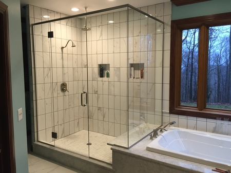 Glass Shower Enclosures At Talbott Glass In Elkins, WV