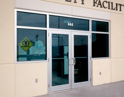 Commercial entrance door replacement and repair at Talbott Glass in Elkins, WV